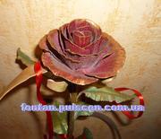 Кованые розы сувениры и подарки Кованая роза кована троянда